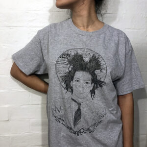 citrine press girl in grey t shirt